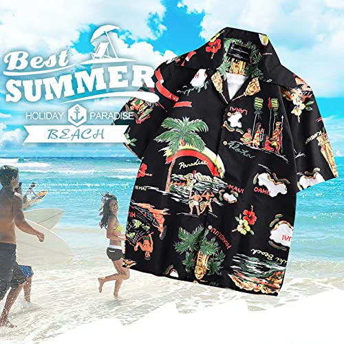 LORVIES Mens Coconuts and Flowers Beach Board Shorts Quick Dry Swim Trunk