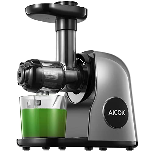 Aicok Slow Masticating Juicer Extractor Easy to Clean Juicer Machines Quiet Mo