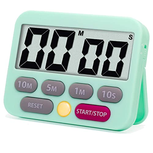 Buy Quickloong Kitchen Timer Digital Countdown Timer Loud And Mute Optional Magnet Lcd Display Count Up And Down Timer For Kids Adults Green Online In Indonesia B08jynt7vd