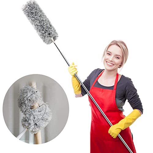 Buy Webster Cobweb Duster Feather Duster For Home Extendable Dusters For Cleaning High Ceiling Fans Hand Wall Duster Long And Washable Dust Brush Online In Indonesia B07v3h62cl