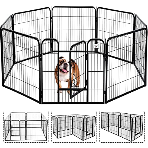 Pet Gate Large Dog Kennel Puppy, Outdoor Pet Gate With Door