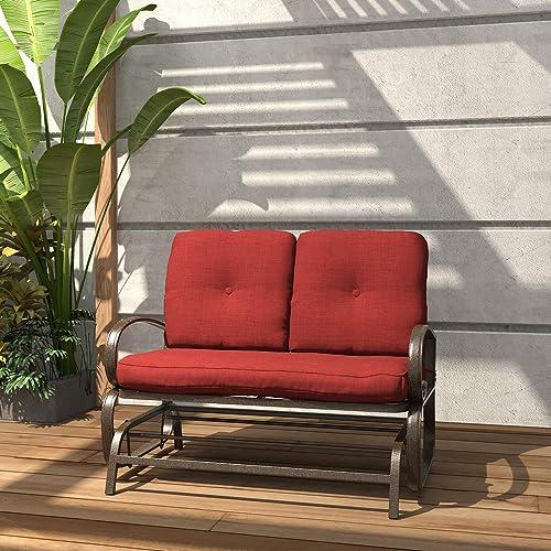 Finefind Patio Glider Bench Outdoor, Outdoor Glider Patio Set