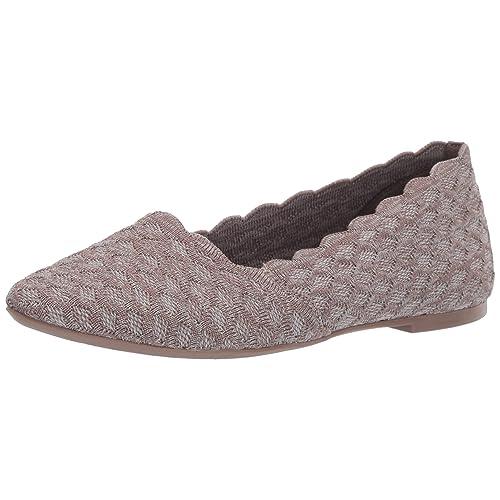 Buy Skechers Women's Cleo-Scalloped Knit Skimmer Ballet Flat Online in  Indonesia. B07J3J54VP