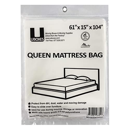 Uboxes Queen Mattress Poly Covers, Bed Mattress Storage Covers