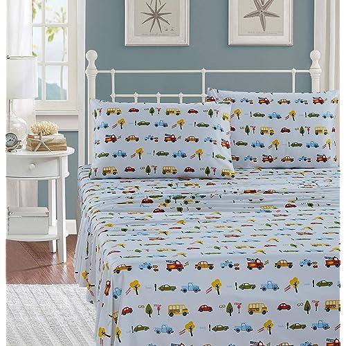 Piece Twin Size Print Sheet Set Boys, Twin Fire Truck Bedding
