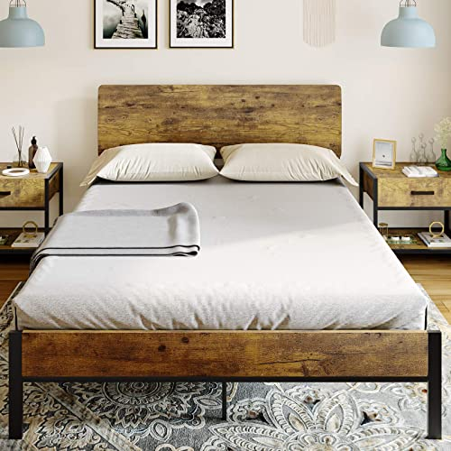 Adorneve Queen Bed Frame Metal, Heavy Duty Queen Bed Frame With Headboard