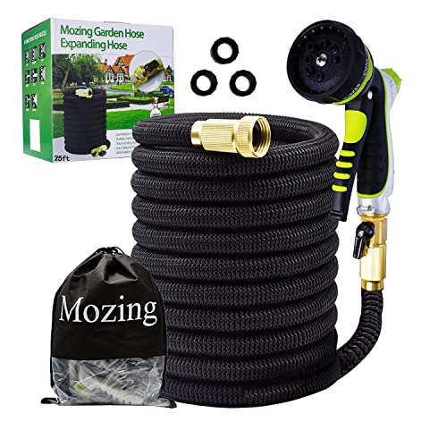 Expandable Garden Hose 50ft Green Color Only. Nozzle Has 7 Different Settings