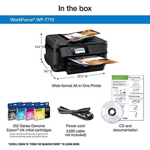 Buy Workforce WF-7710 Wireless Wide-Format Color Inkjet Printer with