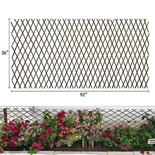restaurantindia.dk Expandable Willow Lattice Fence,Retractable ...