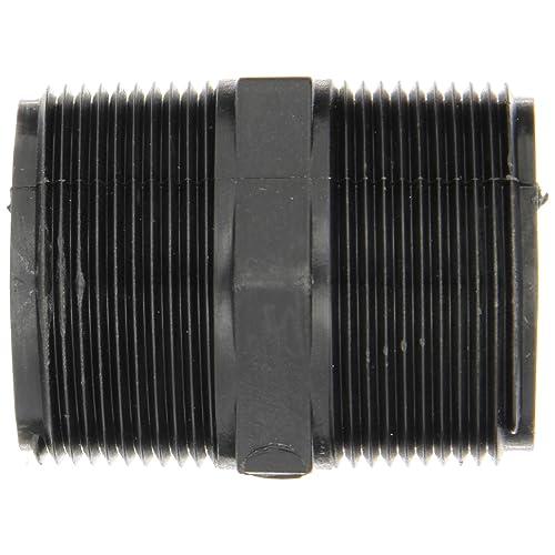Short Nipple 2-1//2 Length Banjo NIP150-SH Polypropylene Pipe Fitting Schedule 80 1-1//2 NPT Male
