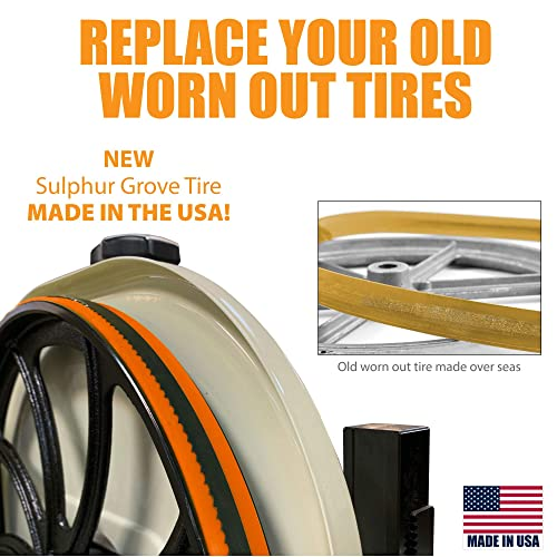 JET  14 X 1 INCH URETHANE BAND SAW TIRES   SET OF 2 NEW TIRES