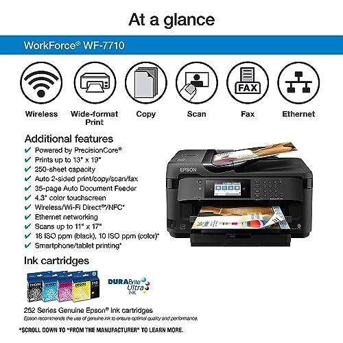 Buy Workforce WF-7710 Wireless Wide-Format Color Inkjet Printer with