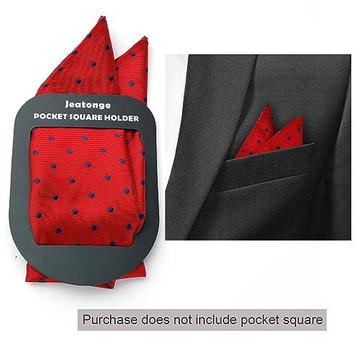 Jeatonge Pocket Square Holder Keeper Organizer Pocket Squares For Men Prefolded 2