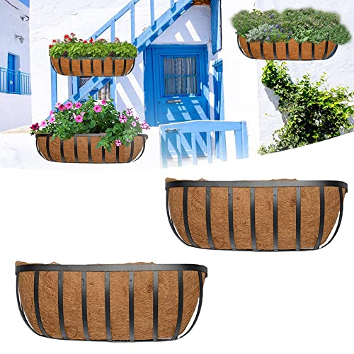"""Trough Up to 48/"""" Wide! 3 Pack Manger /& Window Box Liners Universal Planter"""