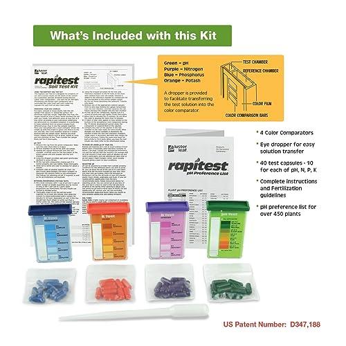 Nitrogen Luster Leaf 1601 Rapitest Test Kit for Soil pH Phosphorous and Potash