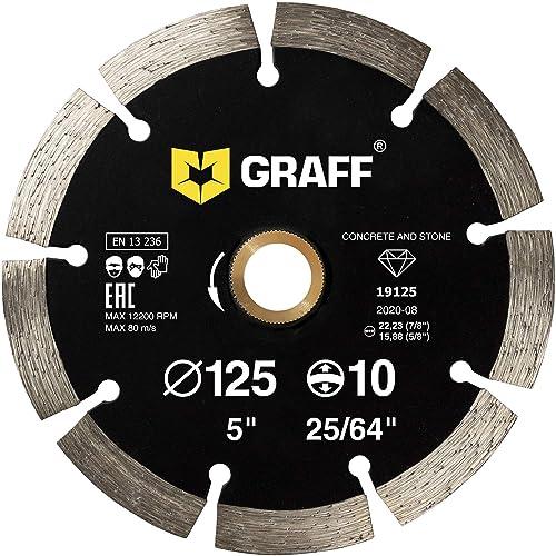 "5"" Diamond Saw Blade Premium Continuous Turbo Cutting Granite Marble Laser Weld"