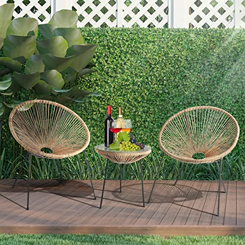 Round Garden Table Plastic Dining Table Outdoor Patio Bistro Table Camping NEW
