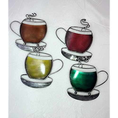 Buy Coffee Decor For Kitchen Coffee Cup Metal Wall Decor 2 Sets Of 2 Kitchen Decorations Theme Sets Metal Coffee Art Breakfast Wall Decor 24 5 X 10 25 When Joined Online In Indonesia B08r2vv1fg
