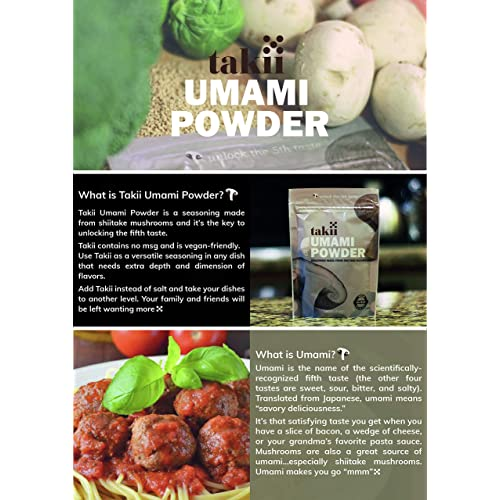 Takii Umami Powder By Fifth Foods 3 5 Oz Bag Original 1 Pack Buy Products Online With Ubuy Indonesia In Affordable Prices B00hyl4hk2