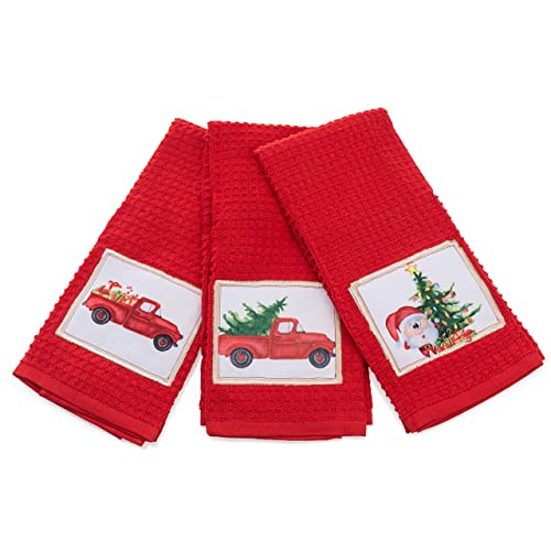 Buy Christmas Kitchen Towels Decorative Holiday Christmas Dish Towels Set Of 3 Perfect Home Kitchen Gift Online In Indonesia B07pxtkjzd