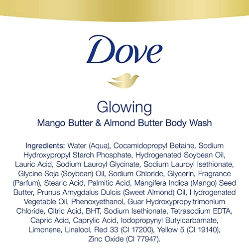 Dove Glowing Body Wash Revitalizes And Refreshes Skin Mango Butter And Almond Butter Sulfate Free Body Wash 22 Oz 4 Count Buy Products Online With Ubuy Indonesia In Affordable Prices B083732dhx