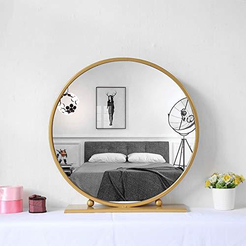 Gold Round Mirror With Base Large, Large Gold Frame Circular Mirror