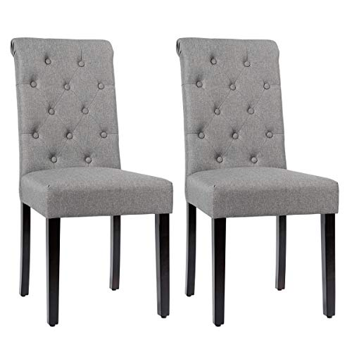 Giantex Upholstered Accent Dining, Dining Room Chair Foot Pads