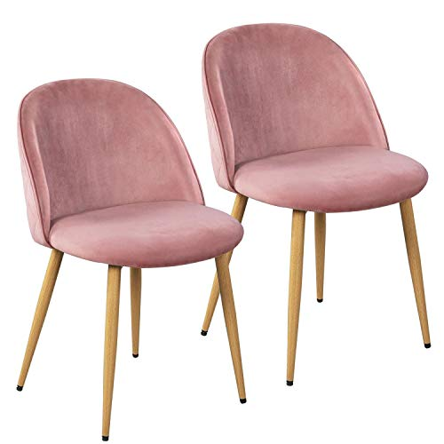 Yaheetech Dining Room Chairs, Velvet Dining Room Chairs