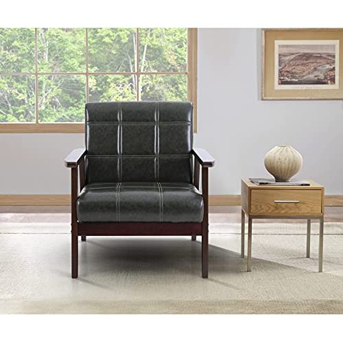 Bedroom Comfy Upholstered Sitting Chair, Small Modern Armchair