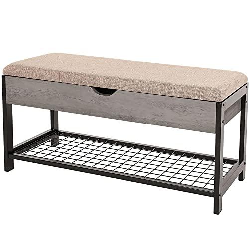 Lghm Industrial Shoe Storage Bench, Entryway Furniture Storage Benches