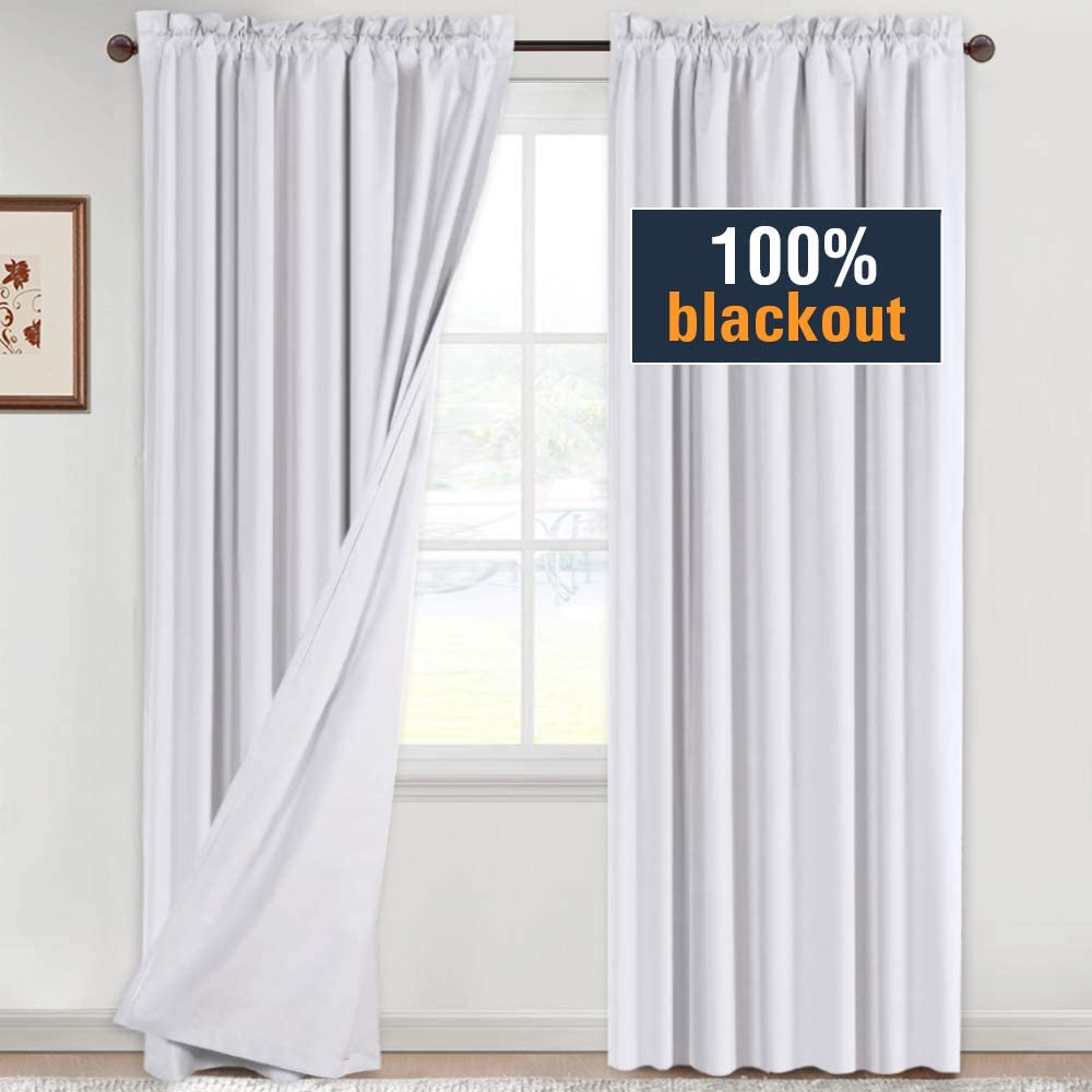 Blackout White Curtains 84 Inches Long