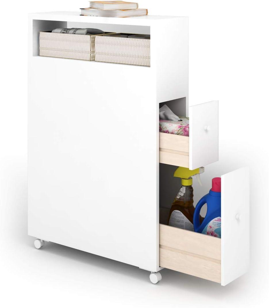 Tangkula Slim Bathroom Storage, Bathroom Toilet Slim Floor Cabinet Narrow Storage Cupboard With Drawers