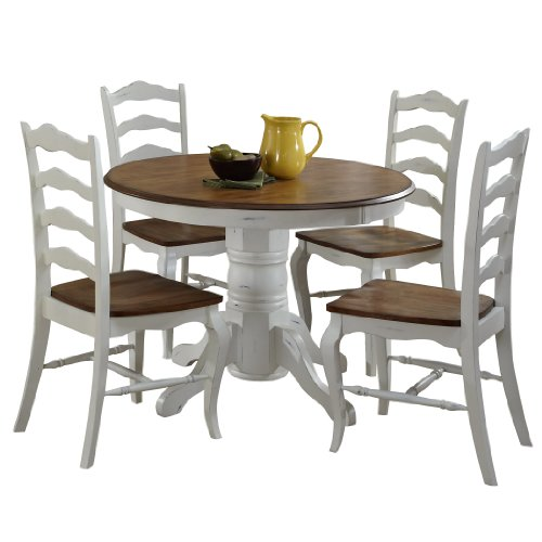 French Countryside Oak White 42, French Country Round Kitchen Table
