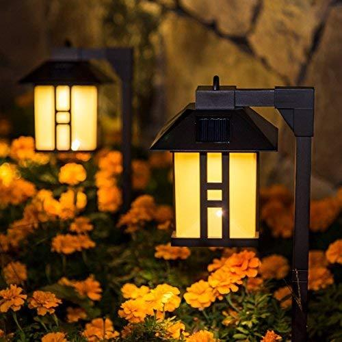 Gigalumi Solar Powered Path Lights, Outdoor Path Lights