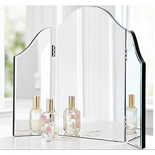 Trifold Vanity Makeup Mirror, Triple Fold Dressing Table Mirror