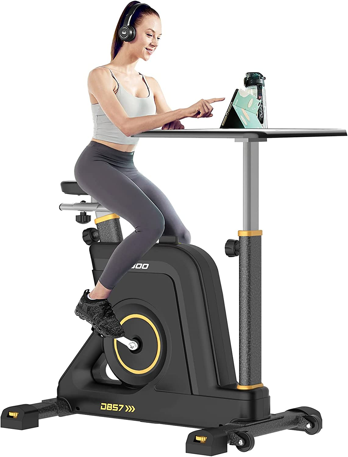 Pooboo Magnetic Resistance Exercise, Stationary Desk Bike Reviews