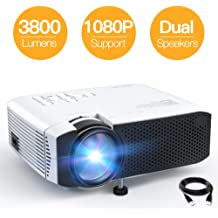 "GooDee  Leisure  3800L 1080P LED Projector Home Theater 200/"" Video HDMI VGA USB"