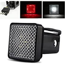 WennoW LED Hitch Cover Brake Light 2 Hitch Receiver Trailer Hitches Safety Light Truck