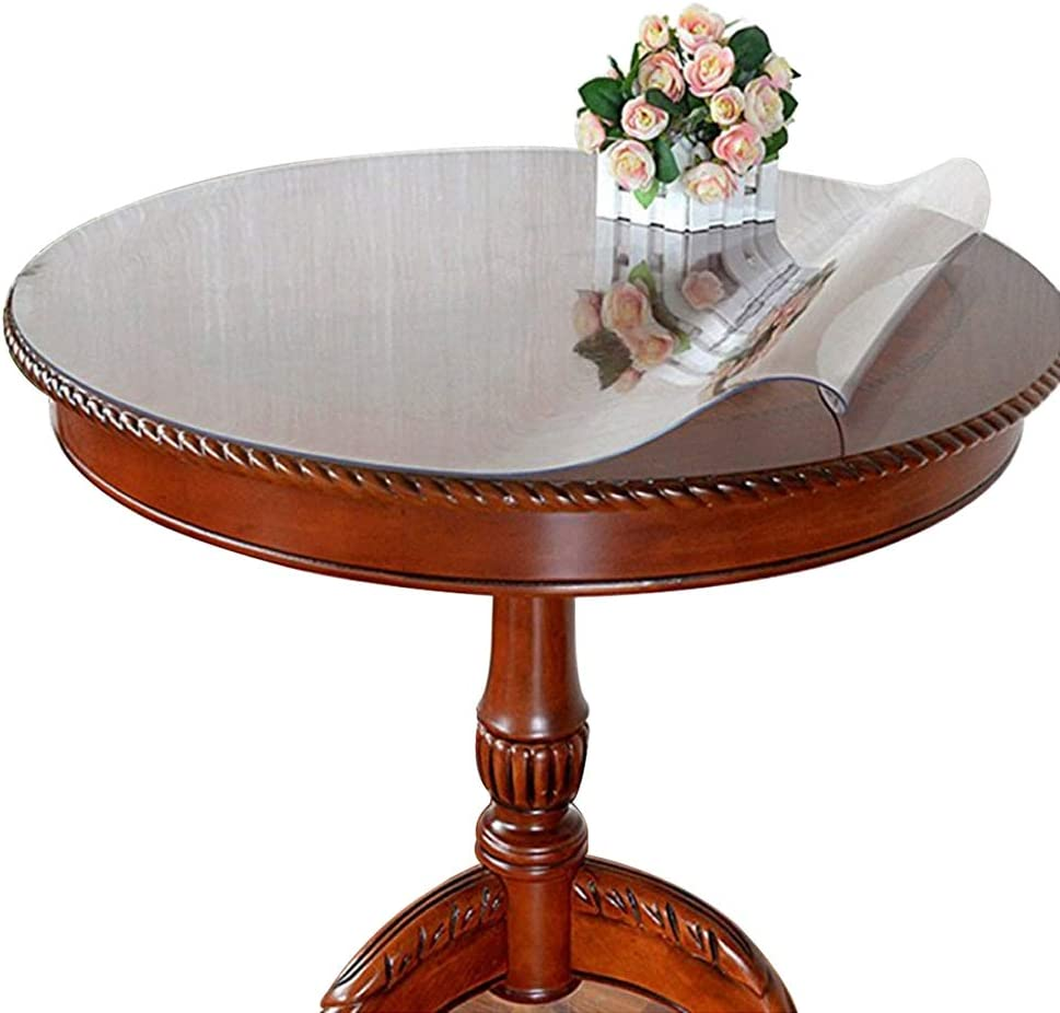 Eralove Round 60 Inch Clear Pvc, 60 Inch Round Tablecloth Disposable