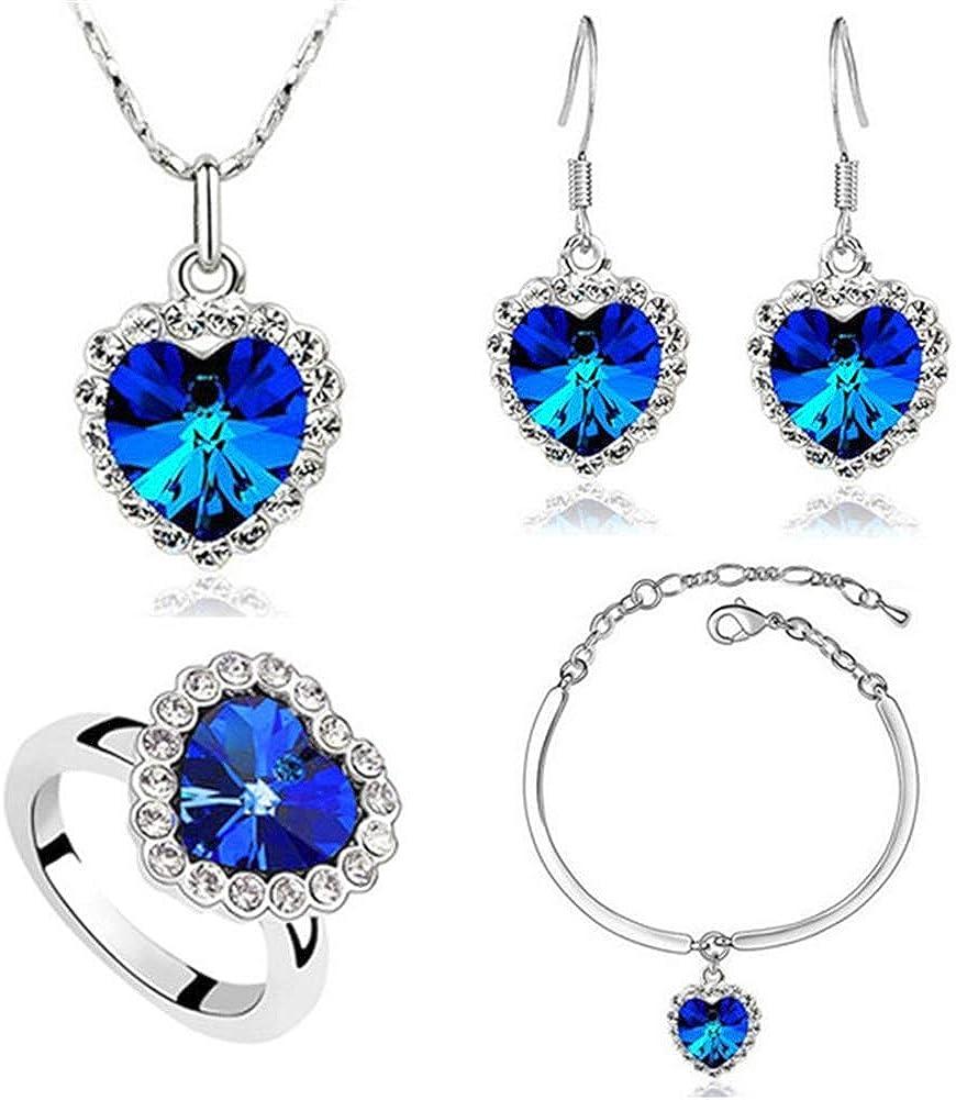 Ocean Necklace Earrings Bracelet