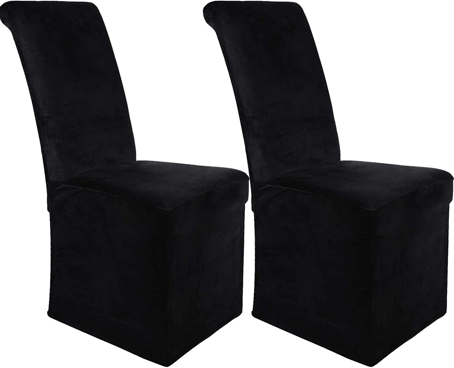 Colorxy Velvet Stretch Chair Covers, Dining Room Slipcovers