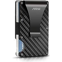 Mens Metal RFID Blocking Wallet Minimalist Wallets Credit Card Holder Money Clip