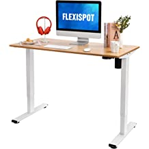 Flexispot Electric Height Adjustable Standing Desk with Drawer 48 x 24 Inches Black Desktop /& Adjustable Frame Quick Install Computer Workstation 2.4A USB Charge Ports, Memory Controller, Child Lock