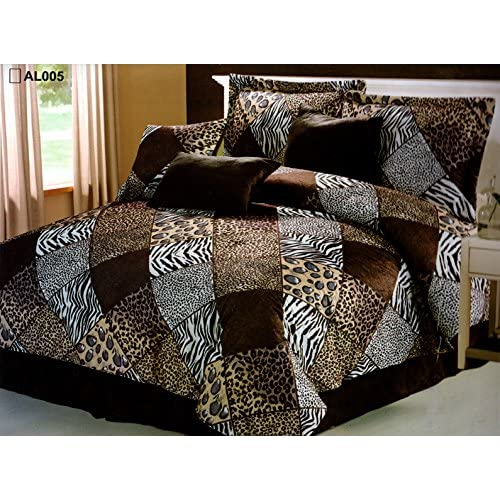 White Comforter Set Animal Print, Queen Size Bedding In A Bag