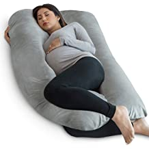 Hips Back Kingta Pregnancy Pillow U Shaped Full Body Pillow with Washable Cotton Cover Shoulder 55 inches Maternity Pillow for Pregnant Women White Support Head Legs and Belly