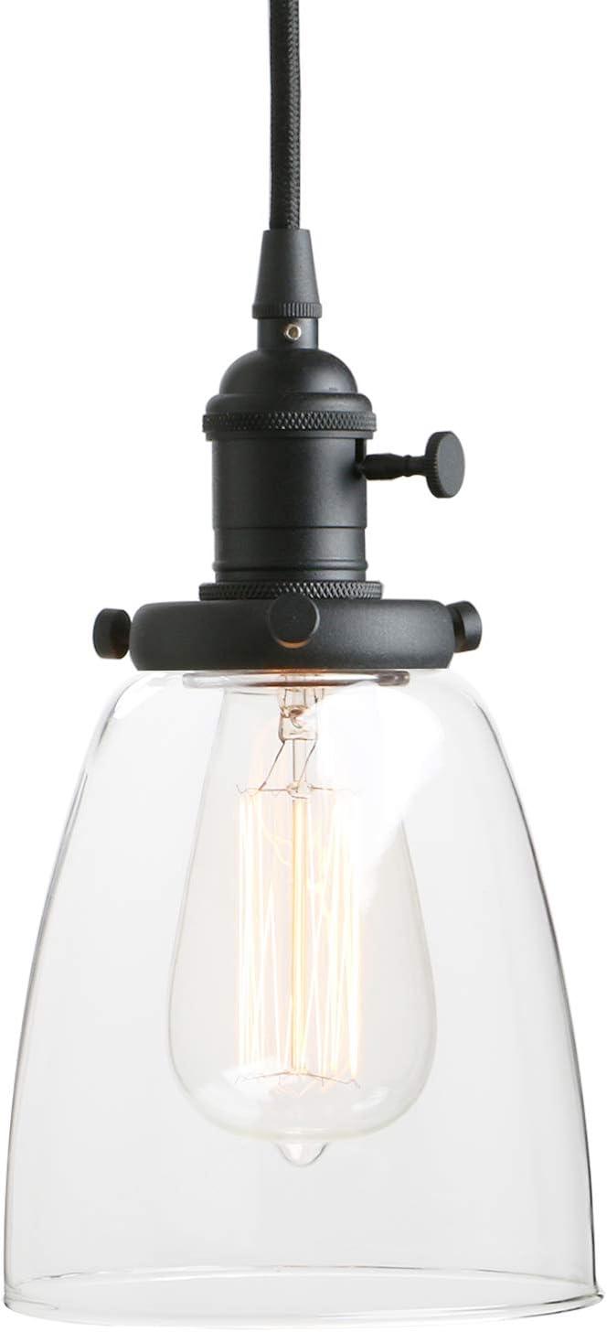 Pathson Industrial Glass Pendant, Industrial Dining Room Lighting