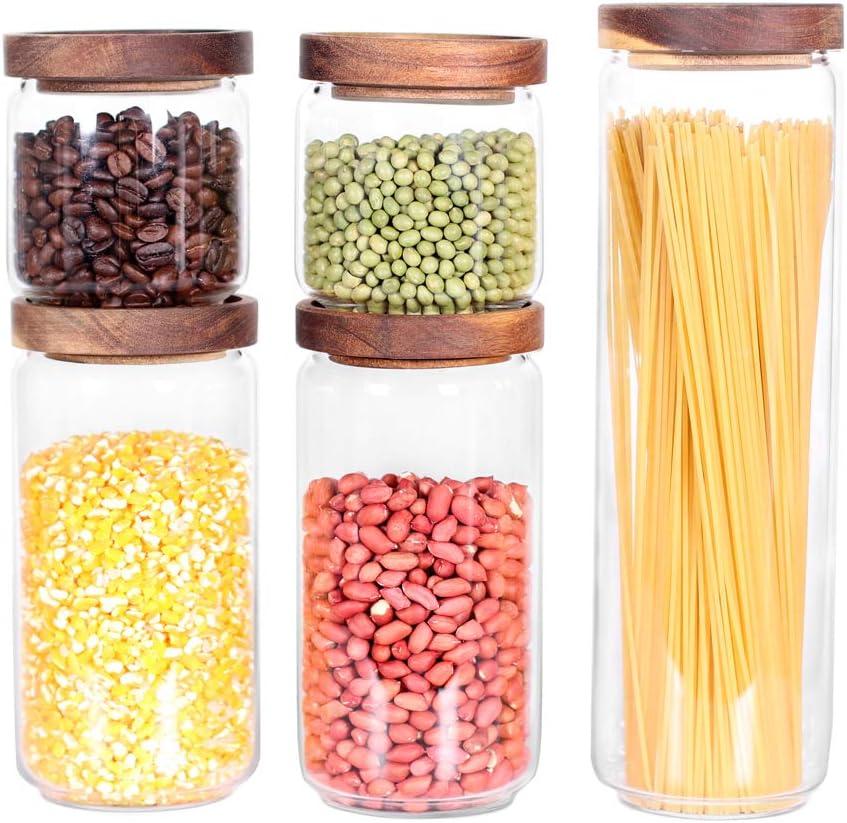 Kitchen Glass Storage Container Jars, Flour Storage Jars Glass
