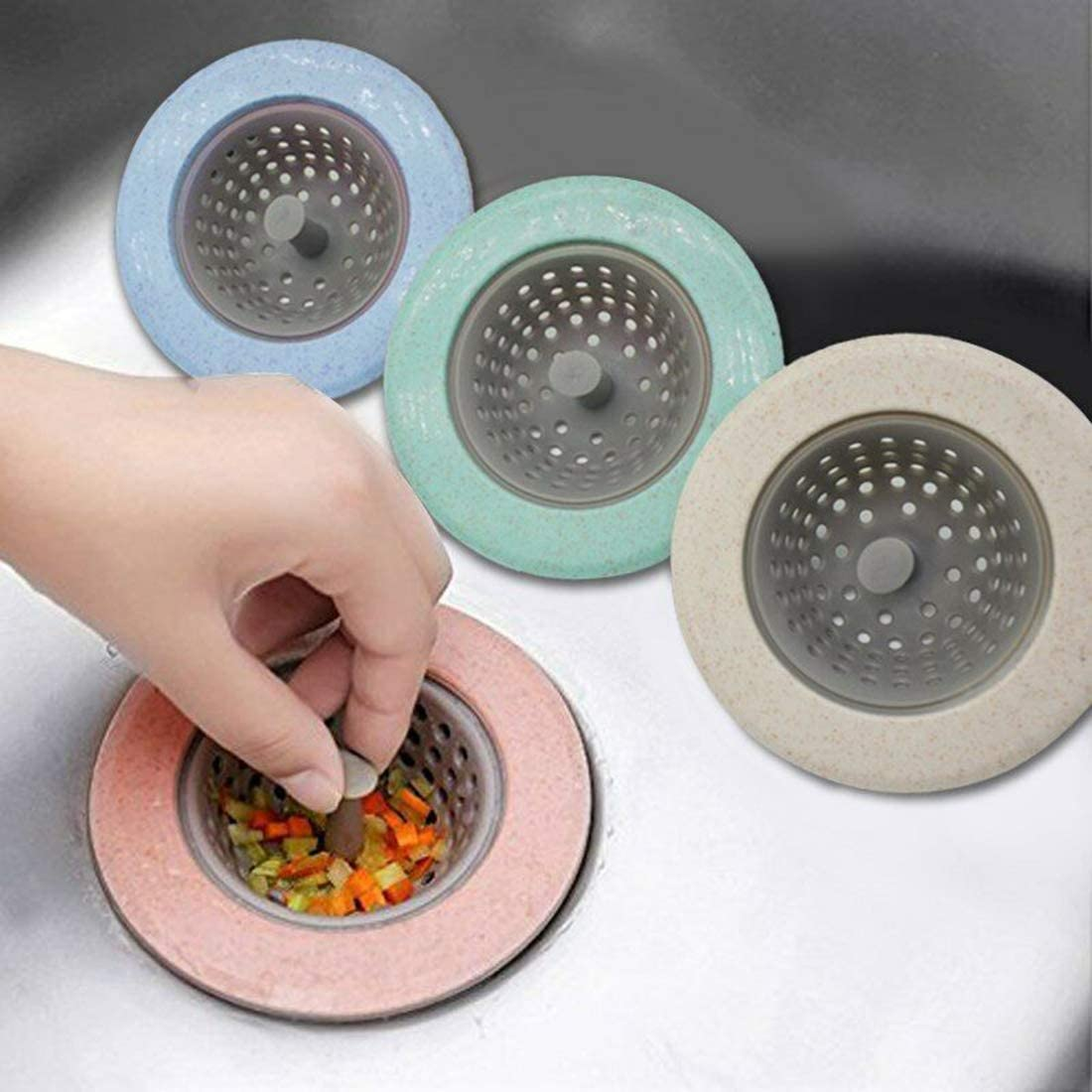 Angchine 4pcs Kitchen Sink Strainer