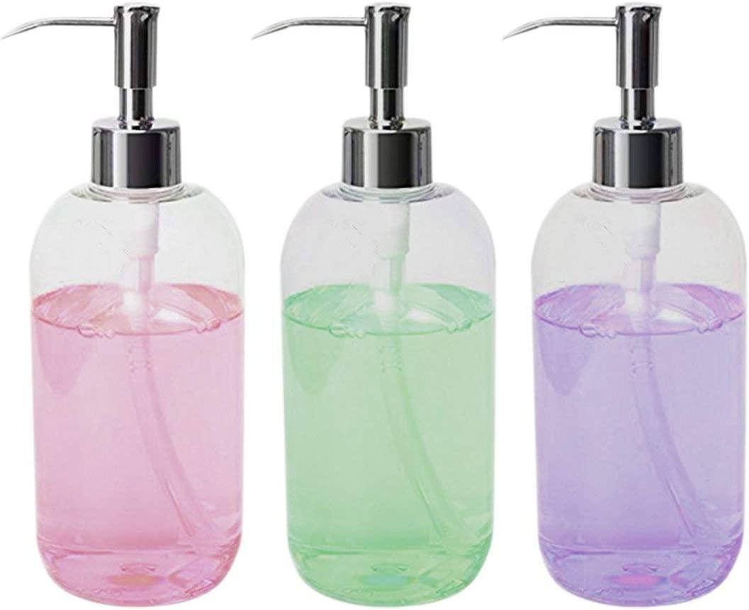 16 Ounce Soap Dispenser Bottles Clear, Bathroom Soap Dispensers