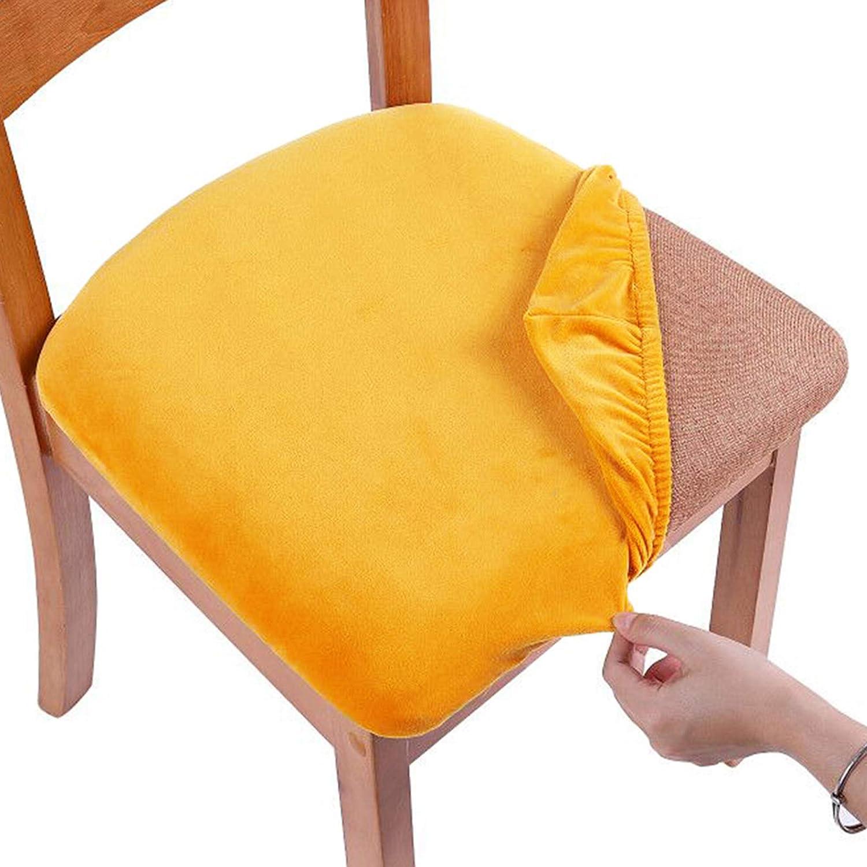 Smiry Original Velvet Dining Chair, Orange Dining Room Chair Cushions